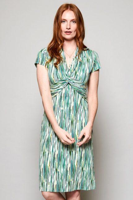 Nomads Kleid Chroma aus Bio-Baumwolle grün
