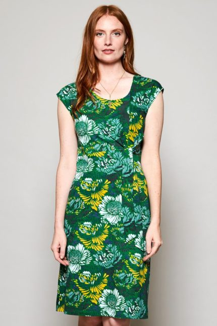 Nomads Kleid Petal aus Bio-Baumwolle grün