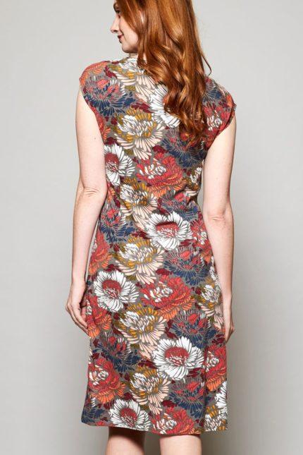 Nomads Kleid Petal aus Bio-Baumwolle rot
