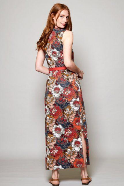 Nomads Maxi Kleid Petal aus Bio-Baumwolle rot