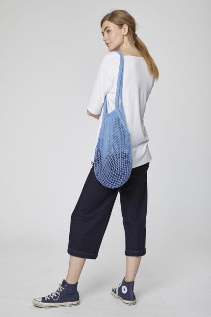 Thought Blaues Einkaufsnetz aus Biobaumwolle