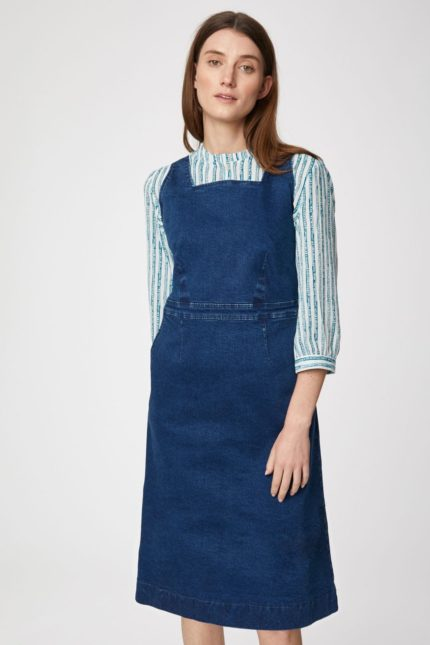 Thought Jeanskleid aus Bio-Baumwolle Rosa