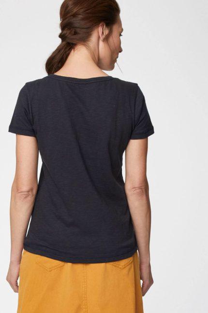 Thought T-Shirt aus Bio-Baumwolle dunkelblau
