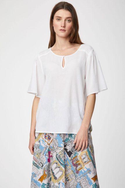 Thought Bluse aus Bio-Baumwolle Winnie weiß