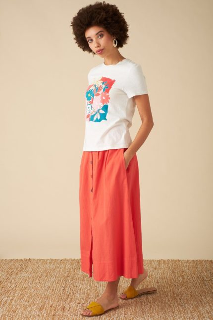 Emily and Fin T-Shirt mit Leinen Asilah Floral