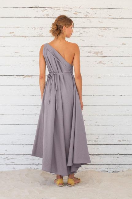 Suite13 Langes variables Kleid mit Leinen Excalibur