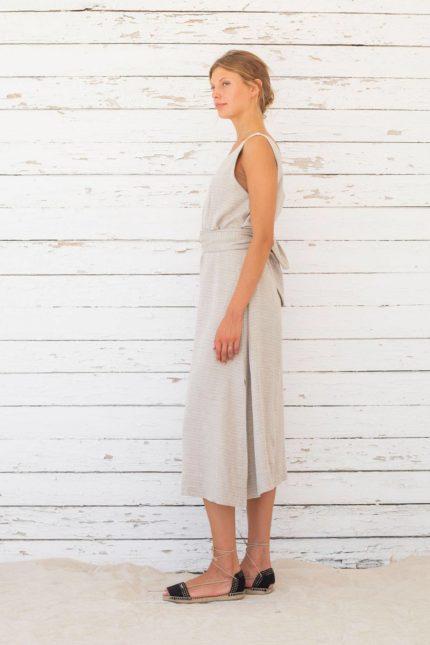 Suite13 Tencel Kleid mit Leinen Vista Stripe