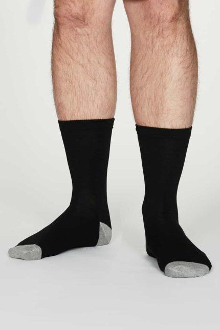 Thought Herren Bambus Socken Jack Schwarz