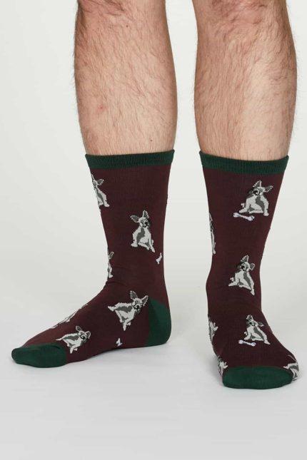 Thought Herren Bambus Socken Lyman Bordeaux