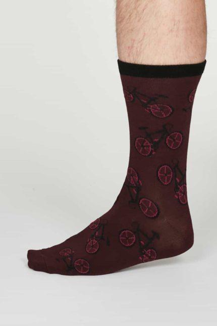 Thought Herren Bambus Socken Wesley Bordeaux