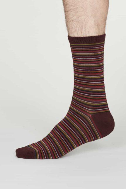 Thought Herren Bambus Socken William Bordeaux