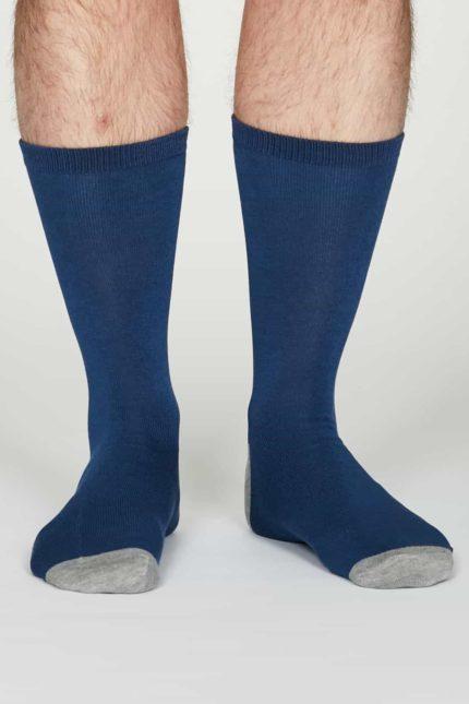 Thought Herren Bambus Socken Jack Hellblau