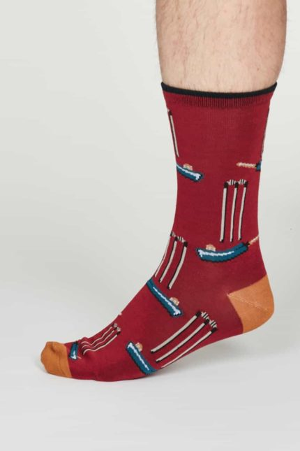 Thought Herren Bambus Socken Perry Rot