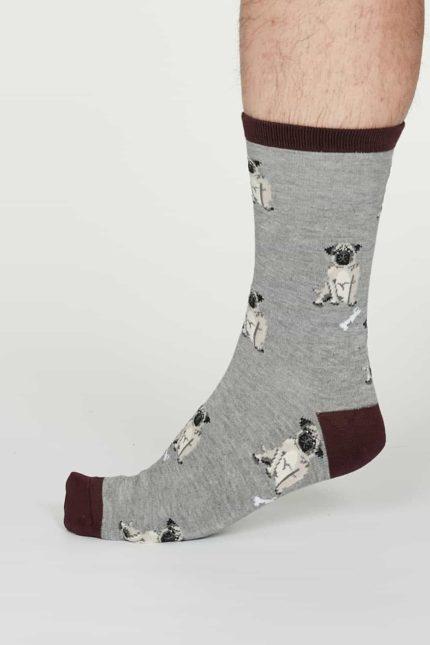 Thought Herren Bambus Socken Lyman Grau