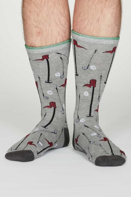 Thought Herren Bambus Socken Perry Grau