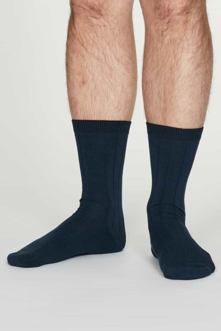 Thought Herren Hanf Socken Hero Blau