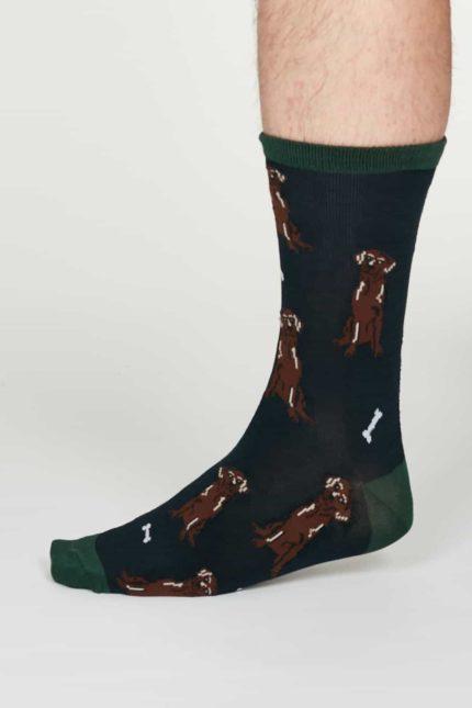 Thought Herren Bambus Socken Lyman Blau