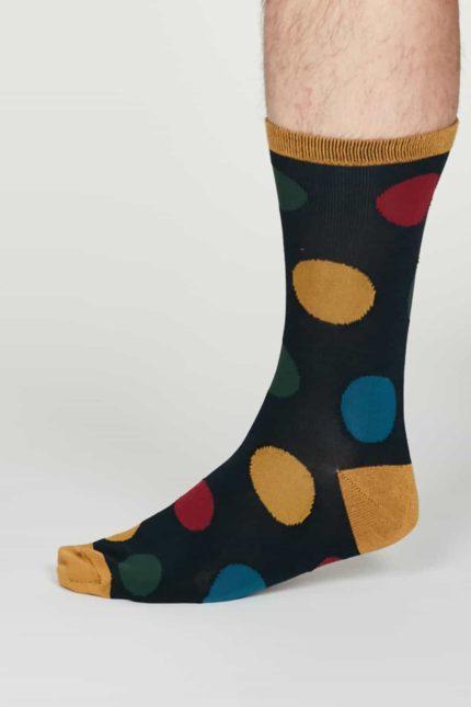Thought Herren Bambus Socken Newton Blau