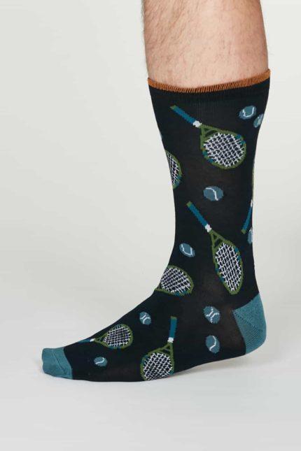 Thought Herren Bambus Socken Perry Blau