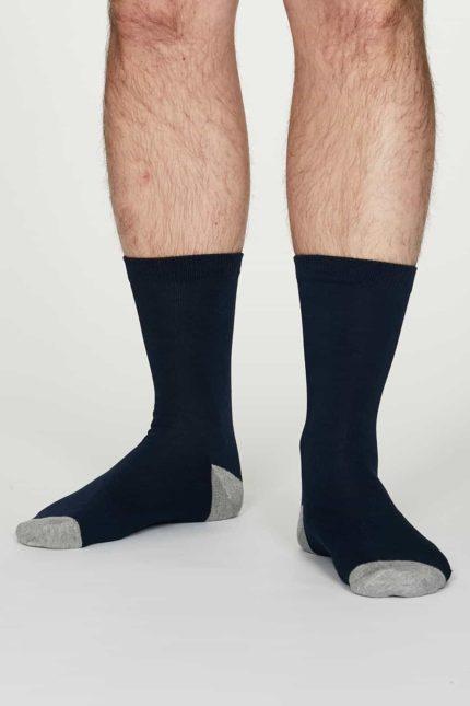Thought Herren Bambus Socken Jack Dunkelblau