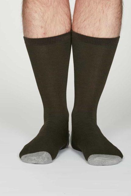 Thought Herren Bambus Socken Jack Grau