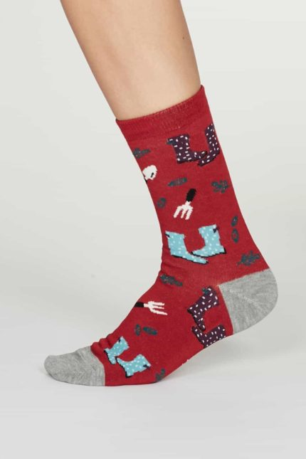 Thought Damen Bambus Socken Eden Rot