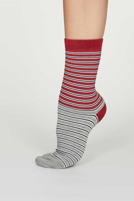 Thought Damen Bambus Socken Isabel Rot