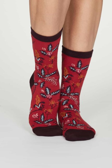 Thought Damen Bambus Socken Margery Rot