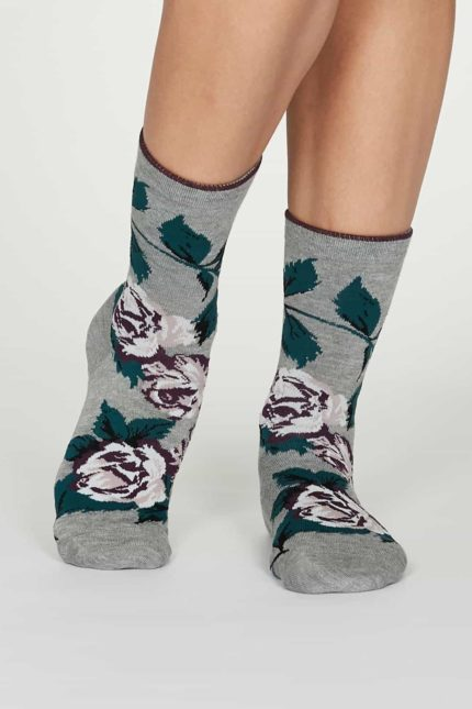 Thought Damen Bambus Socken Rosie Grau