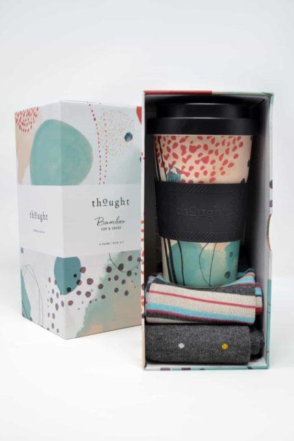 Thought Geschenkbox mit Tasse und Damensocken Arrah