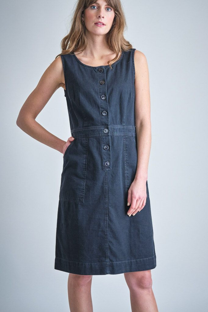 Bibico Kleid Elodie Black Denim