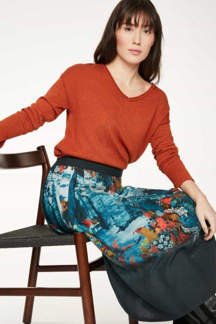 Thought Pullover mit Wolle Loren Orange
