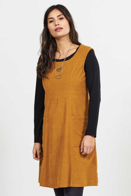 Nomads Cord pinafore Kleid Spice