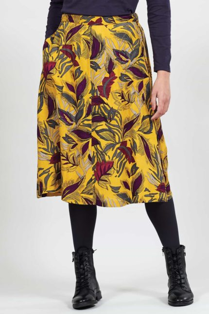 Nomads Kleid Dancing leaves Gelb