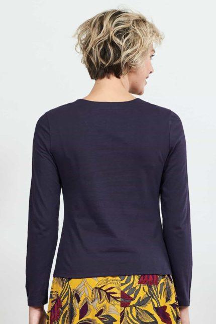 Nomads Top mit Raffung aus Bio-Baumwolle Violett