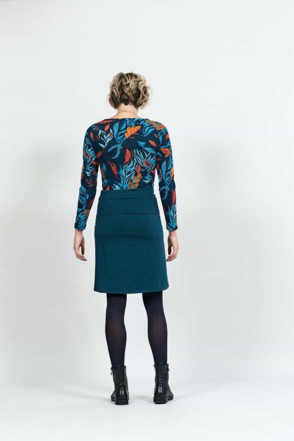 Nomads Kleid mit verstellbarem Saum Blau