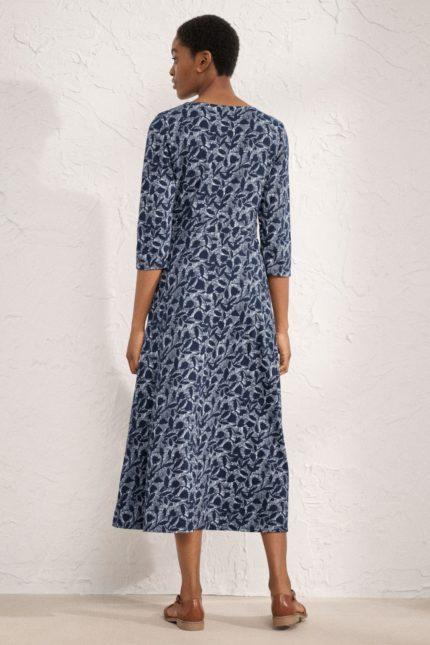 Seasalt Cornwall Kleid Chacewater Midnight aus Bio-Baumwolle