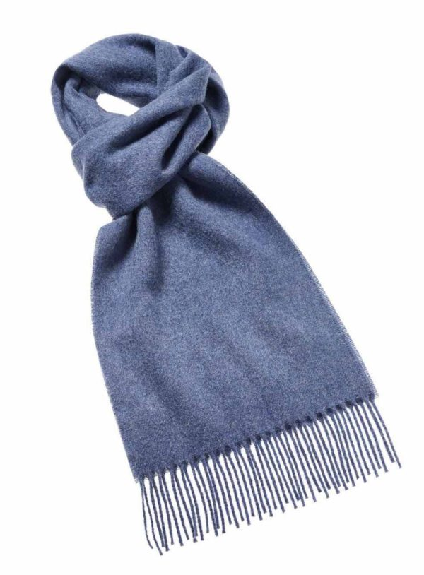 RT007-KB80-Lambswool-Plain-Scarf-Airforce