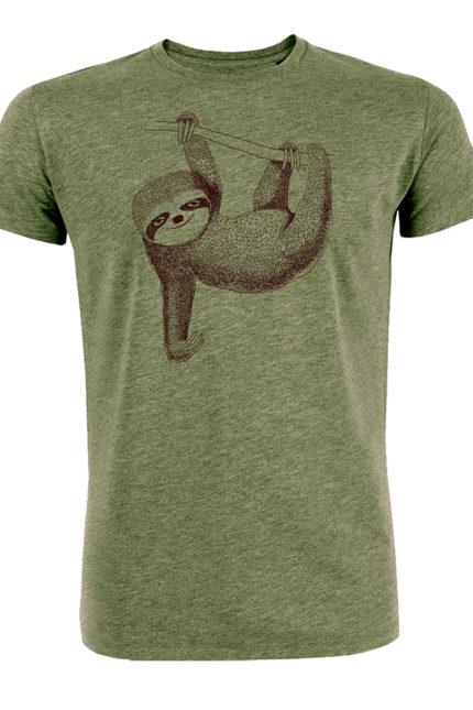 Greenbomb T-shirt Animal Sloth Khaki