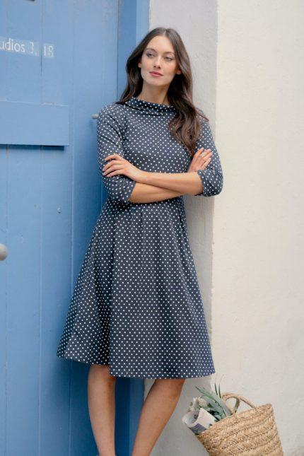 Seasalt Cornwall Kleid Carn Morval Polka Dot aus Bio-Baumwolle