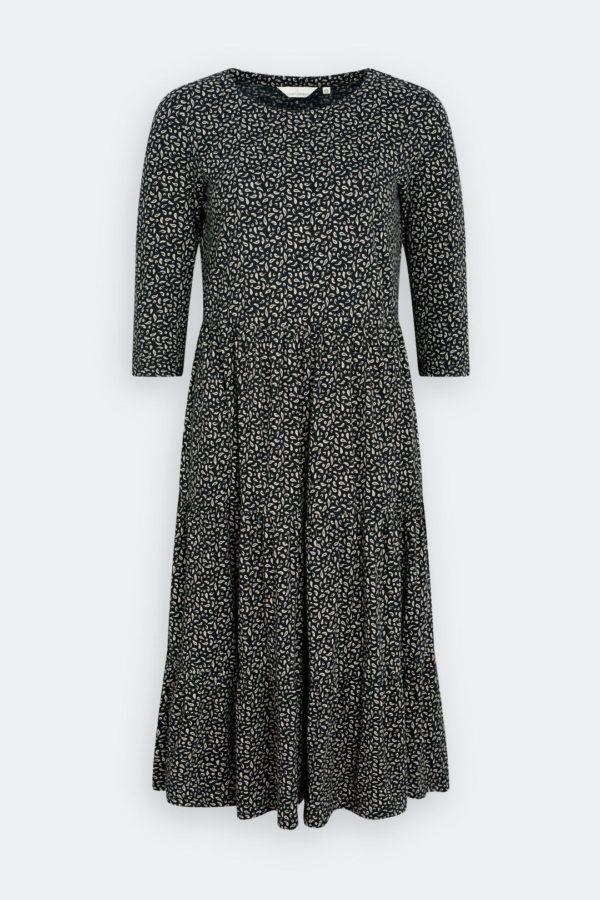 Seasalt Cornwall Line Strokes Dress Copper Marks Black