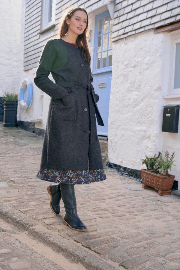 Seasalt Cornwall Woll-Mantel Lysbeth Iron