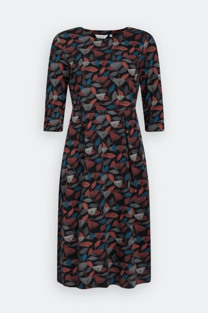 Seasalt Cornwall Kleid Kay Mahogany aus Bio-Baumwolle