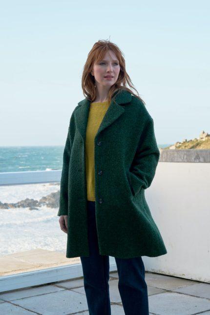 Seasalt Cornwall Wollmantel Trenwheal Grün