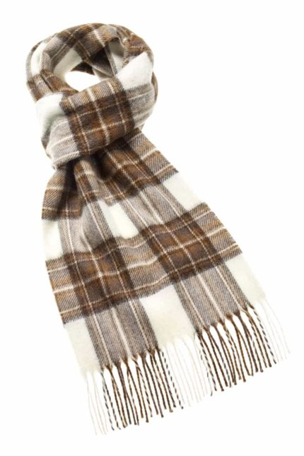 Bronte by Moon Tartan Merino Schal Natural