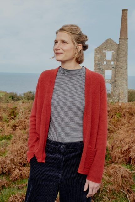 Seasalt Cornwall Strickjacke Breakers Cinnamon mit Merinowolle