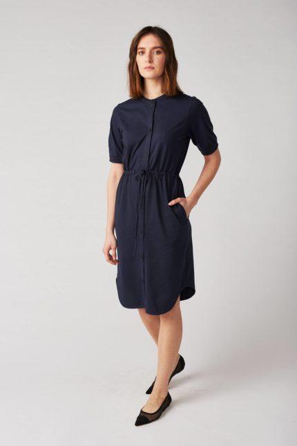 Lana Blusen Kleid Bellevile Blau aus Bio-Baumwolle