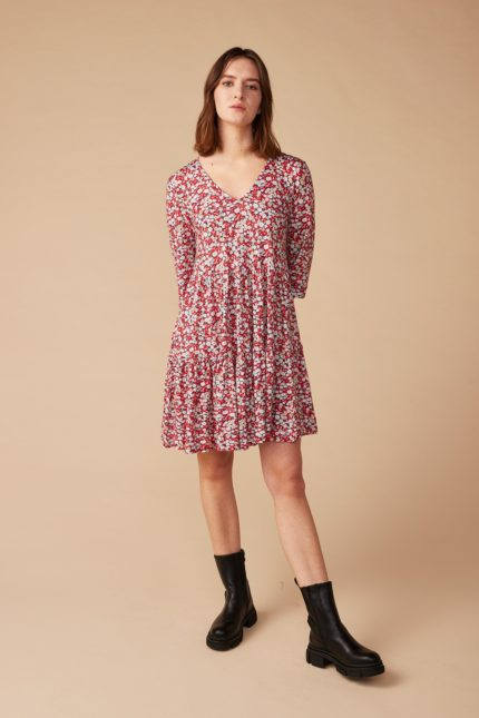 Lana Kleid Helene Rot aus Bio-Baumwolle