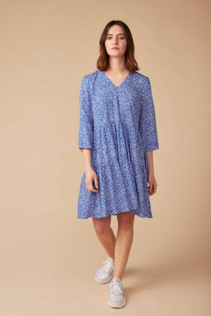 Lana Kleid Helene Blau aus Bio-Baumwolle