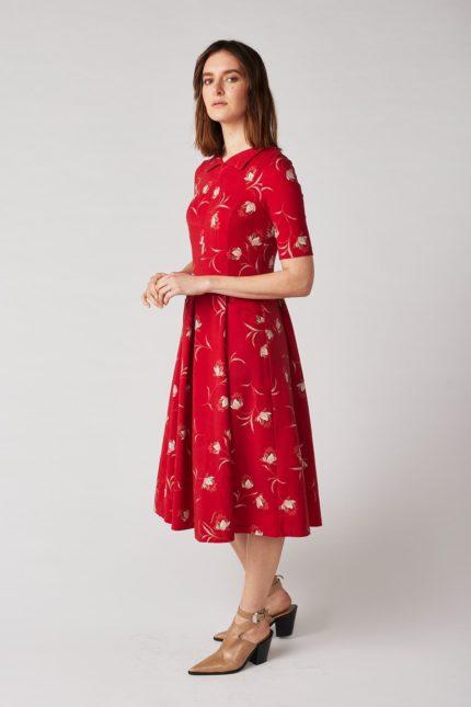 Lana Kleid Himiko Magnolia Rot